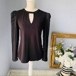 INC Keyhole Puff-Sleeve Blouse, Size S